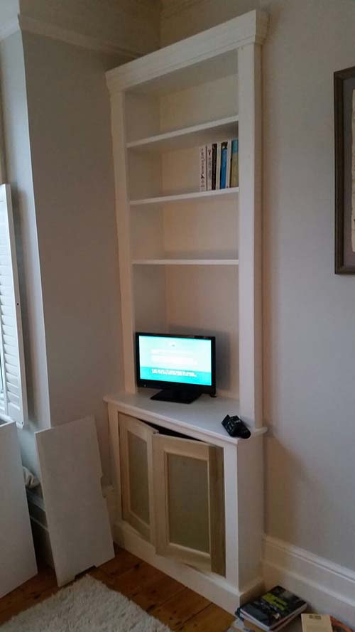 Traditional alcove unit at house in Hither Green, South East London.
