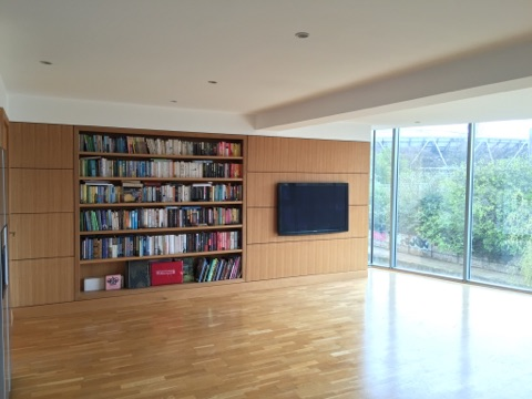 Bespoke Media Units with Bookcase Essex